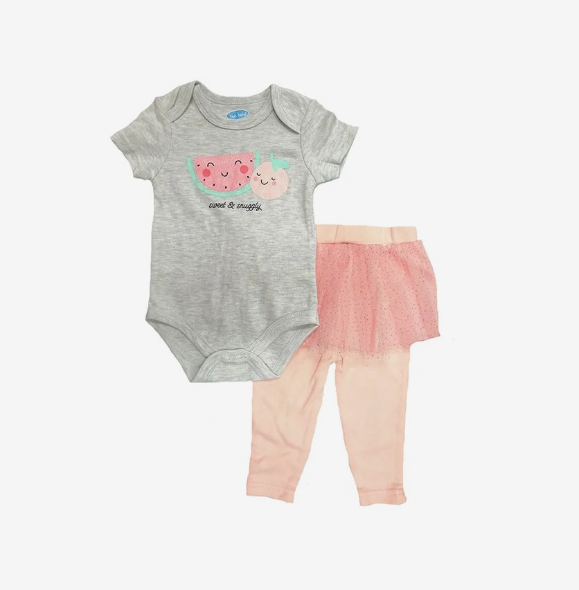 Toddler Sweet & Snuggly Set of 2, Grey/Pink