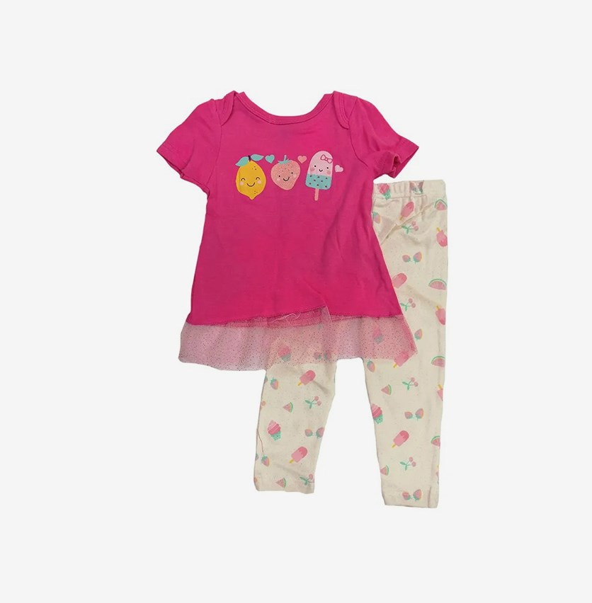 Toddler Girl's Graphic Print Set of 2, Pink