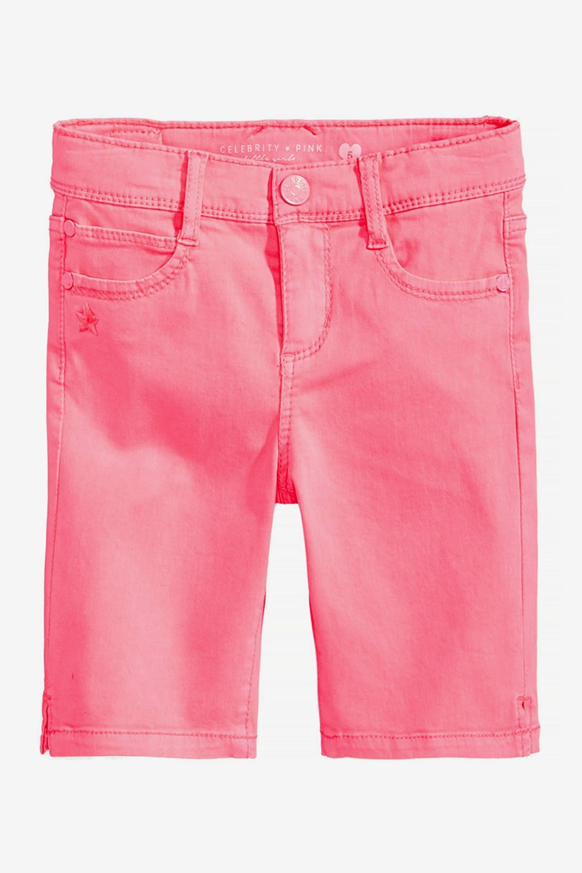 Toddler Twill Bermuda Shorts, Bright Pink