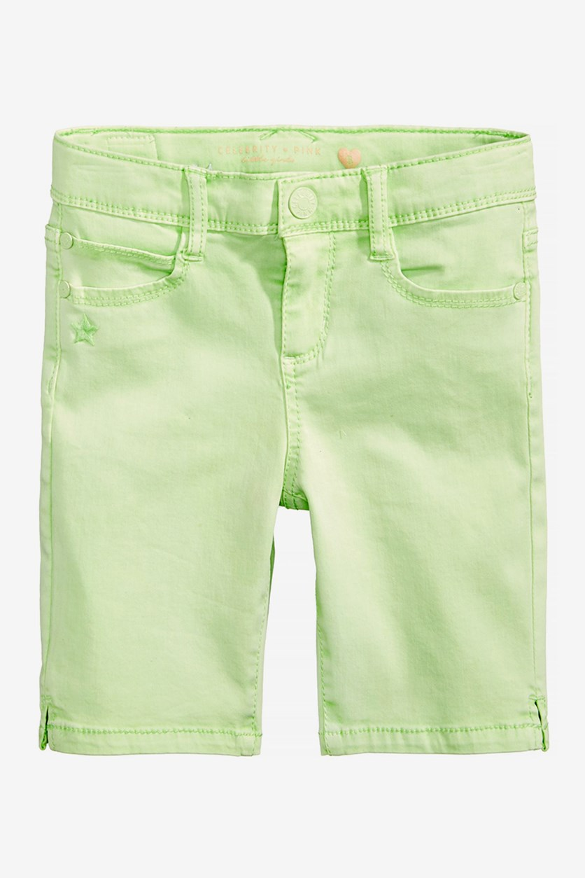 Toddler Twill Bermuda Shorts, Light Mint