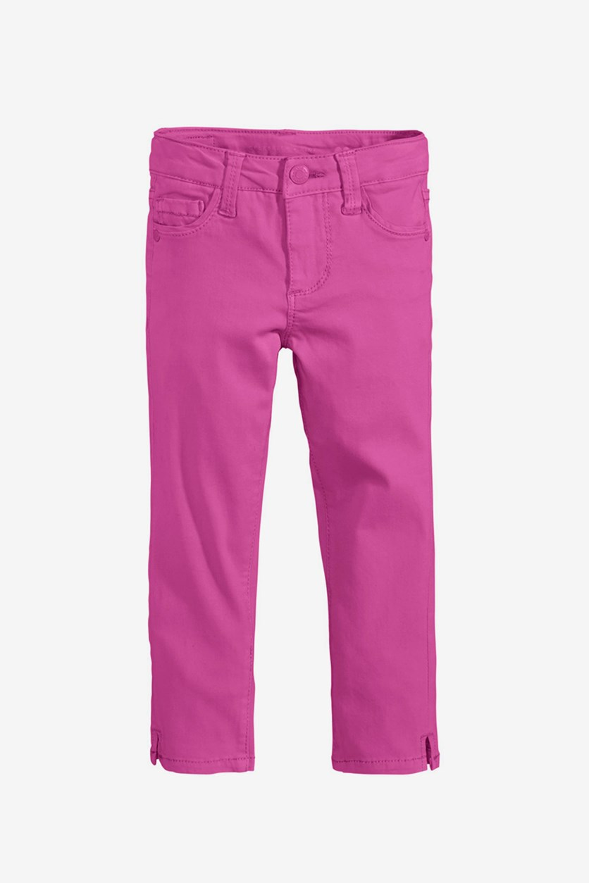 Toddler's Plain Jeans, Pink