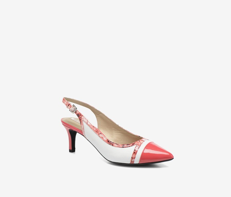 Women's D Elina B Pumps, White/Pink