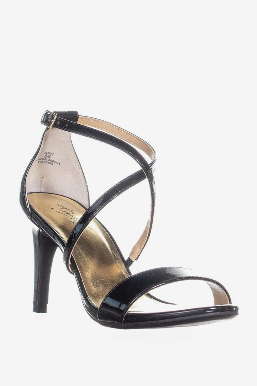 Darria Strappy Sandals, Black
