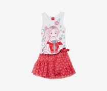 Disney 2-Pc. Elena Tank Top And Skirt, White/Red