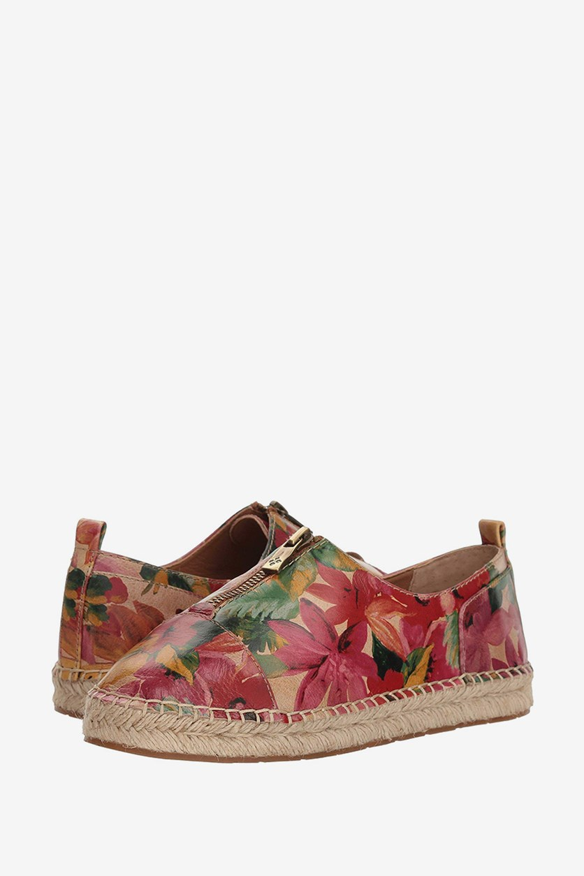 Women's Eva Closed Toe Espadrille Flats, Spring Leather