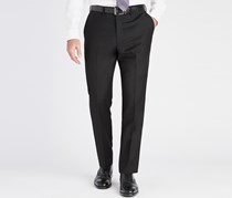 DKNY Men's Slim Fit Plain Pants, Black