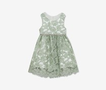 Rare Editions Baby Girls Lace Dress, Sage
