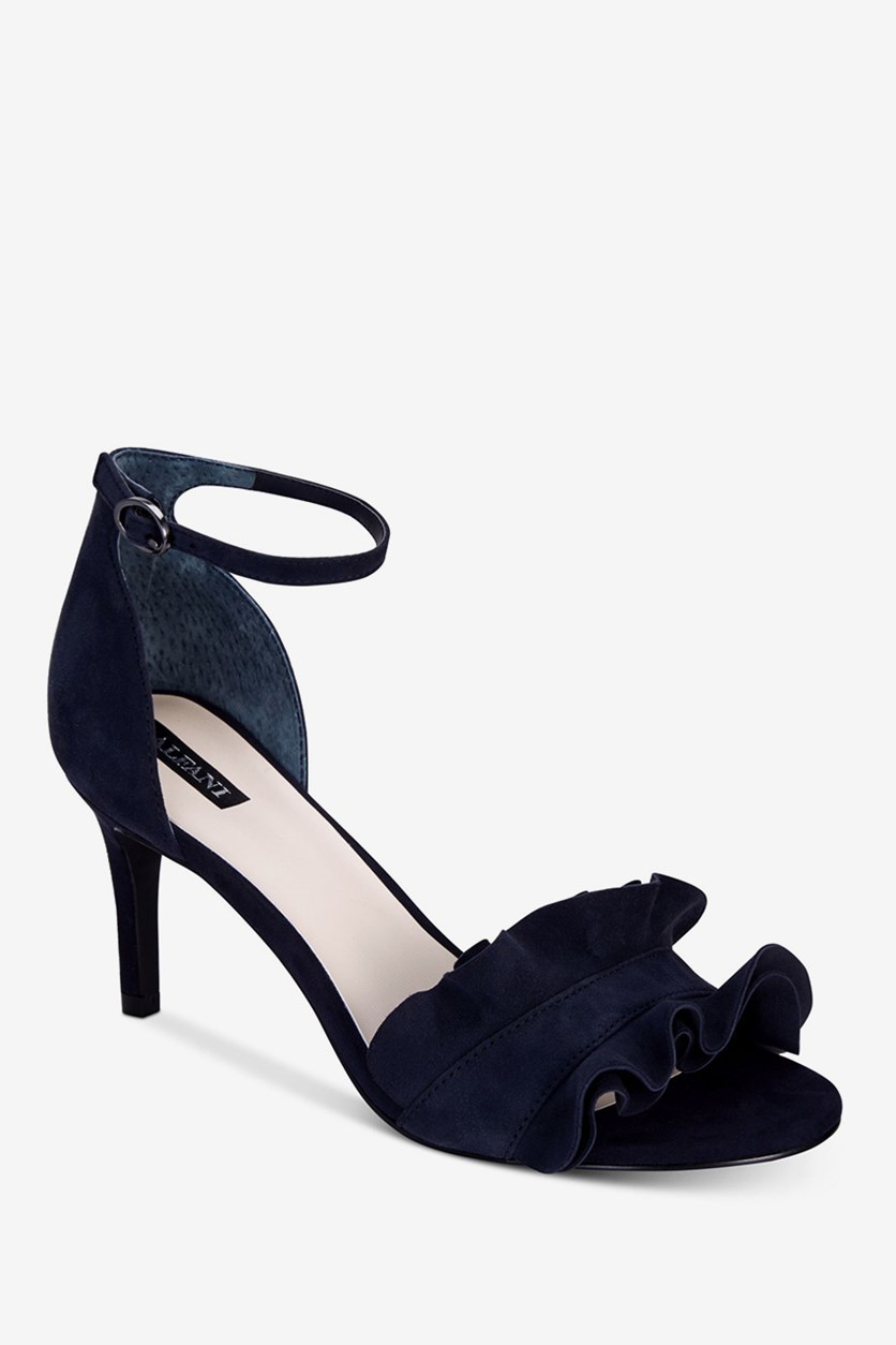 Womens Suede Dress Sandals, Ink