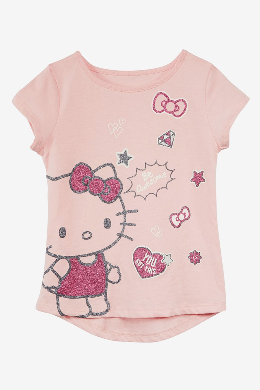 Hello Kitty Toddler Girls Graphic-Print  T-Shirt, Rouge Pink