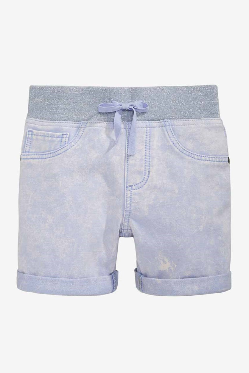 Girls Denim-Look Knit Shorts, Baron River