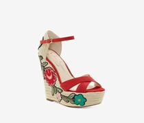 Jessica Simpson Women's Apella Patch Wedge Sandals, Red