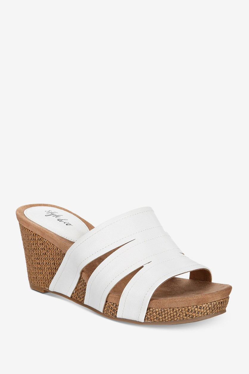 Women's Juliaa Slide-On Wedges, White
