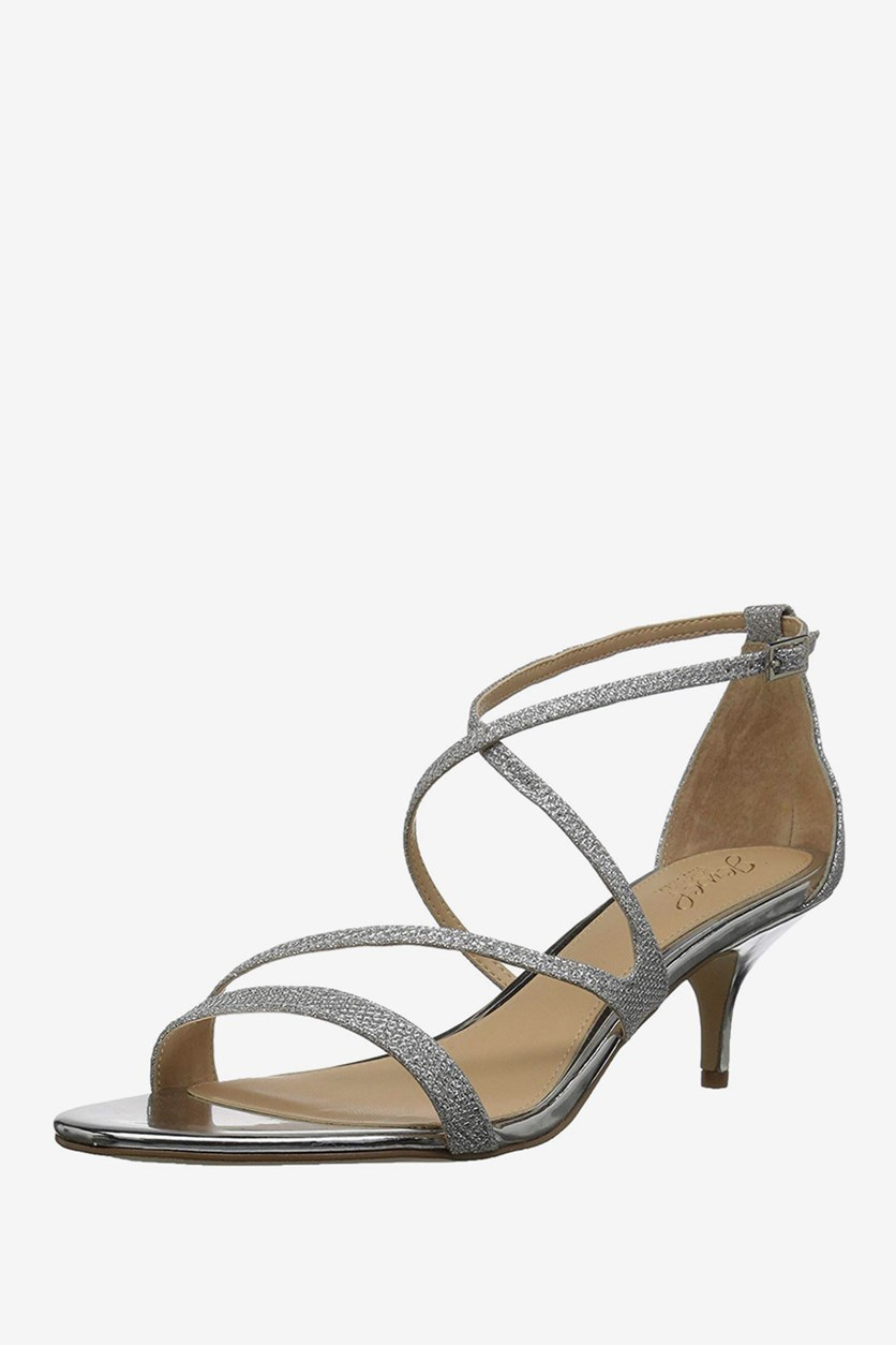 Gal Strappy Evening Sandals, Silver