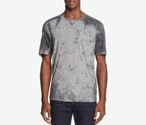 Joe's Jeans Splatter Print Crewneck Tee, Stained Gray