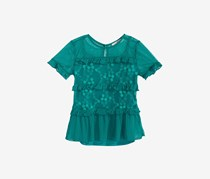 Kandy Kiss 2-Pc. Embroidered Top & Camisole Set, Dark Green