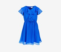 Lavender Big Girls Ruffle Dress, Royal