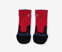 Stance Men's Cheets Low Socks, Red Combo