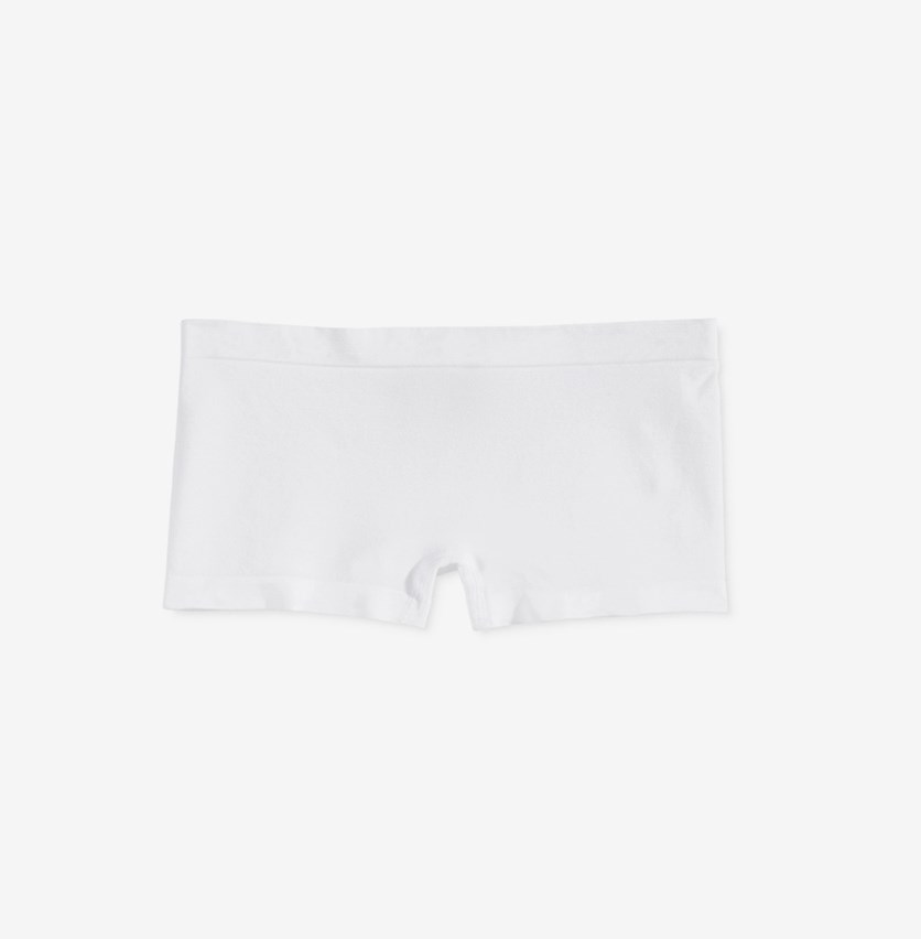 Seamless Minishort Underwear, White