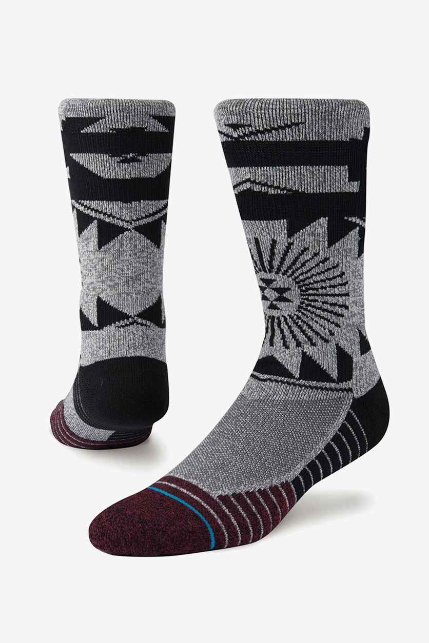 Men's El Morro Socks, Grey/Black