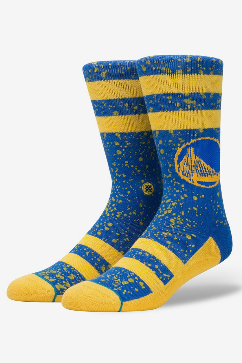 Men's Golden State Warriors socks, Blue