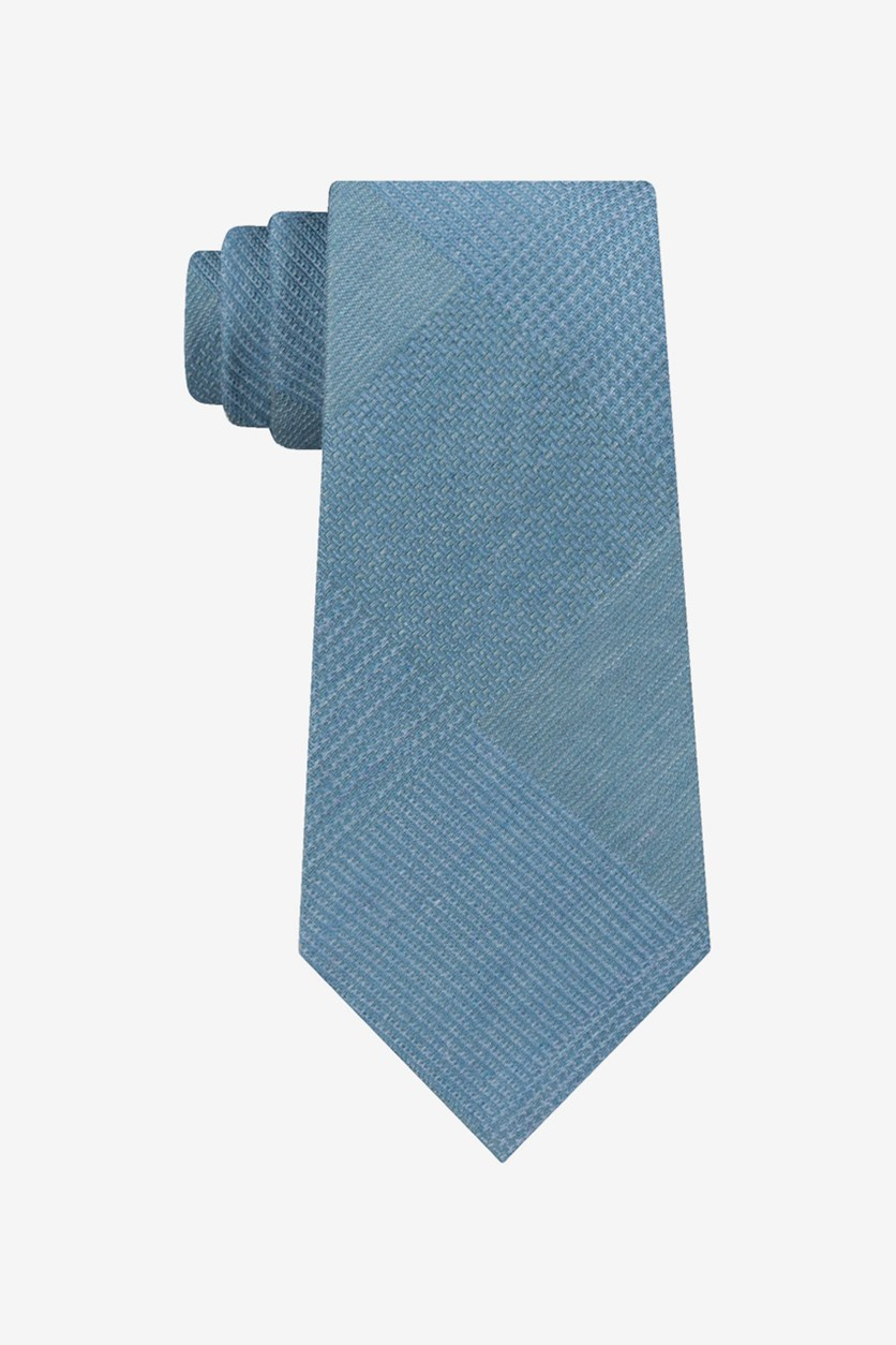 Mens Updated Glen Self-tied Necktie, Blue