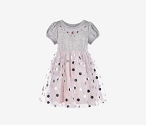 Toddlers Girls Textured Dress, Grey