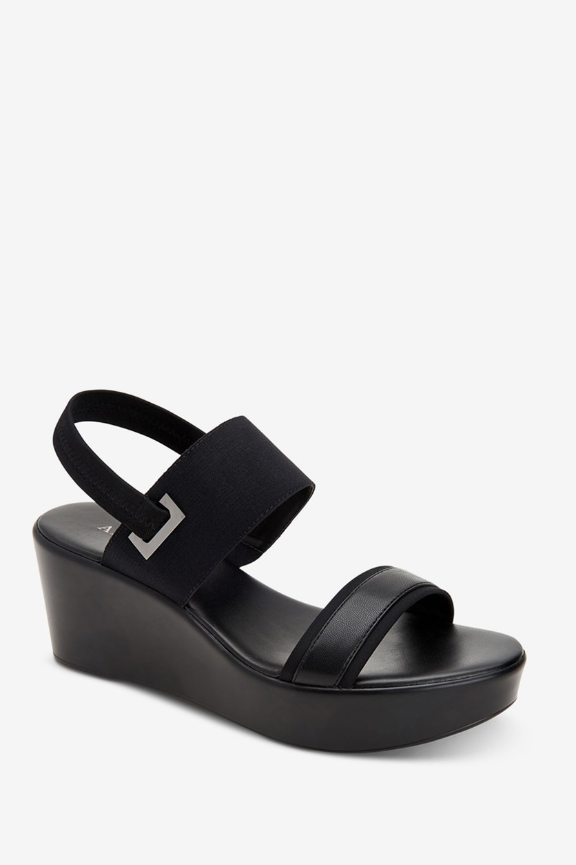 Womens Maybell Wedge Sandal, Black