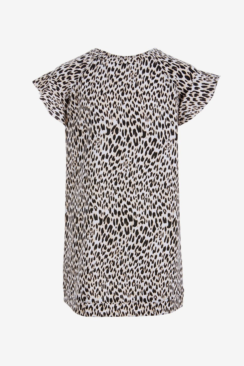 Love, Fire Big Girls Leopard-Print Sweatshirt Dress, Leopard