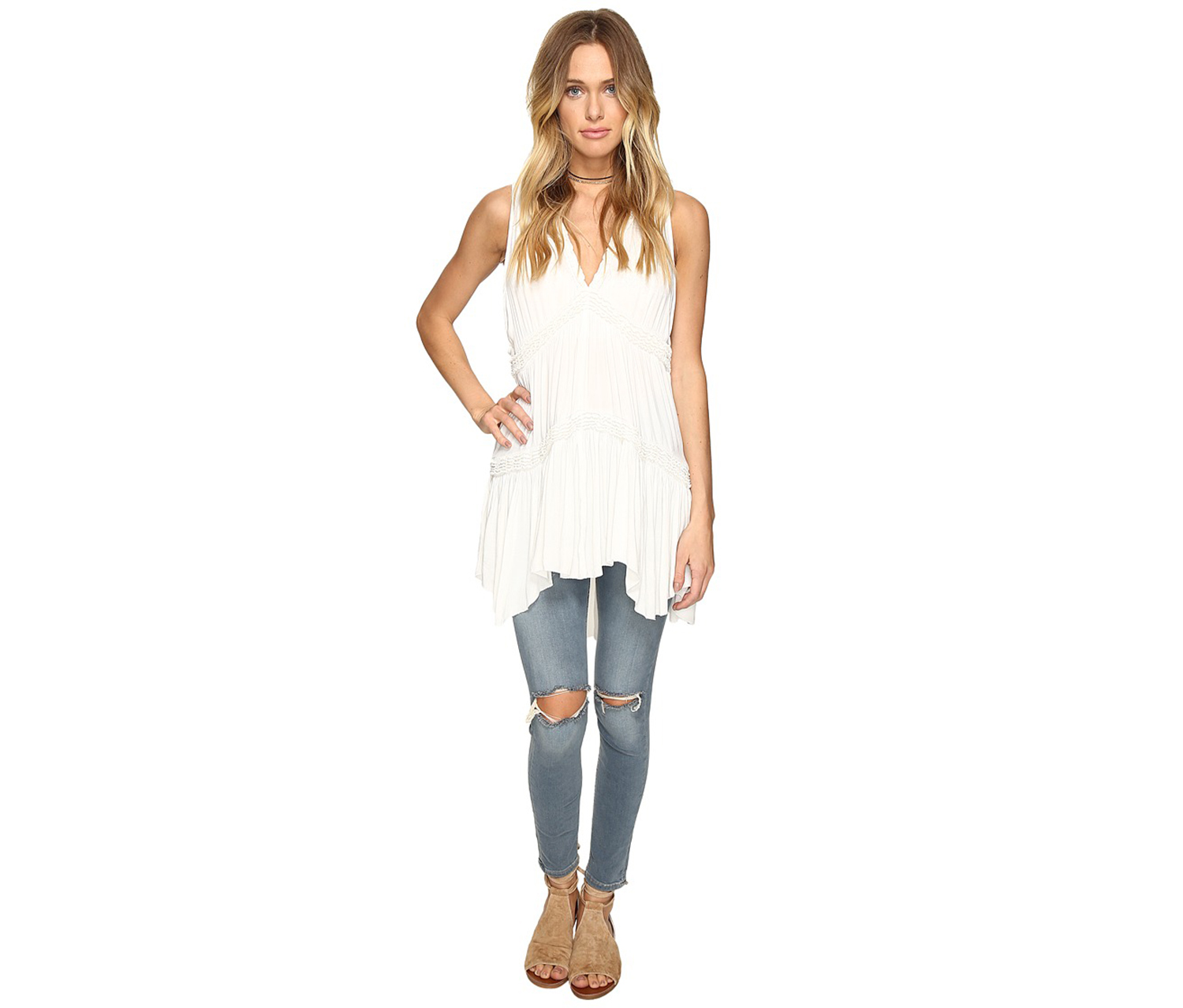 Free People Women's Haze Tunic,  White