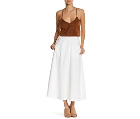 Free People Women's Midi Skirt, White
