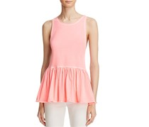Free People  Women's Peplum Ballet Neck Tank Top, Pink
