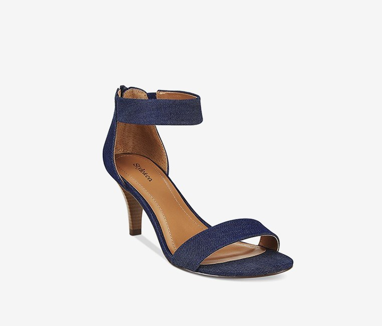 Paycee Two-Piece Dress Sandals, Denim