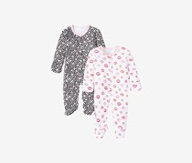 Rosie Pope Toddlers Girl's Coveralls, Pink/Black