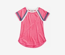 Pink Republic Big Girls Striped-Sleeve Raglan T-Shirt, Fuchsia