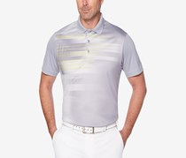 Pga Tour Men's Energy Printed Performance Polo, Sleet