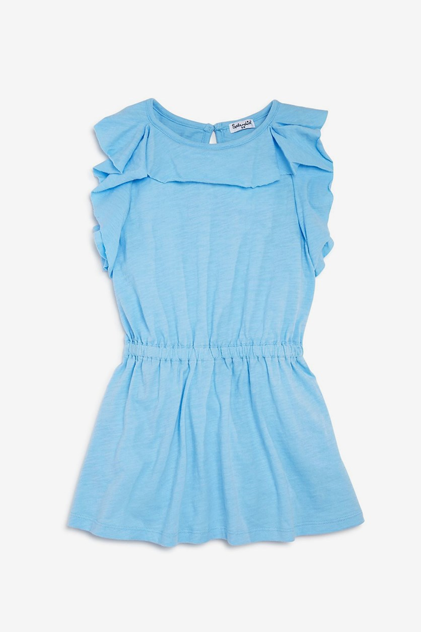 Kids Girls' Flounce Shirt Dress, Blue