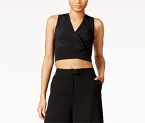 Rachel Roy Women's  Zip-Back Crop Top, Black