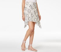 Rachel Roy Lace Handkerchief Skirt, Off White/Grey