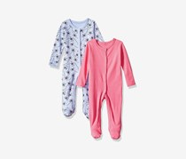 Rosie Pope Toddler Kids Baby Girls' 2 Pack Coveralls, Lavender/Pink
