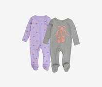 Rosie Pope Toddler Girls Crown Print Bodysuit, Purple