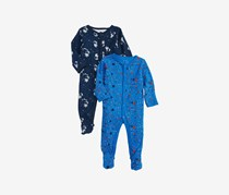 Rosie Pope Baby Boys Coveralls 2 Pack  Astronaut, Blue
