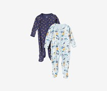 Rosie Pope Toddlers Boy's Pack of 2 Assorted Coveralls, Navy Blue