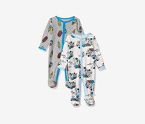 Rosie Pope Baby Boys' Coveralls 2 Pack, Gray Ice Cream