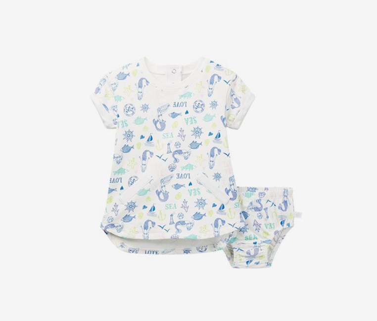 Baby Girls' Mermaid Dress, Ivory
