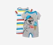 Rosie Pope Toddlers Party Animal Bodysuit, Grey/Blue/Ivory Combo