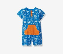 Rosie Pope Baby-Boys Pirate Romper, Blue