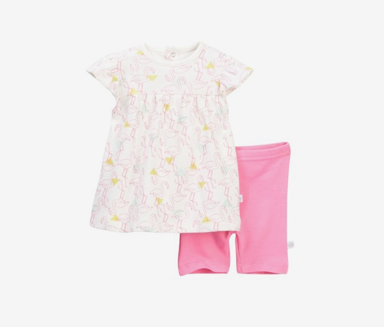 Toddler Girl's Dress & Shorts Set, Pink Combo