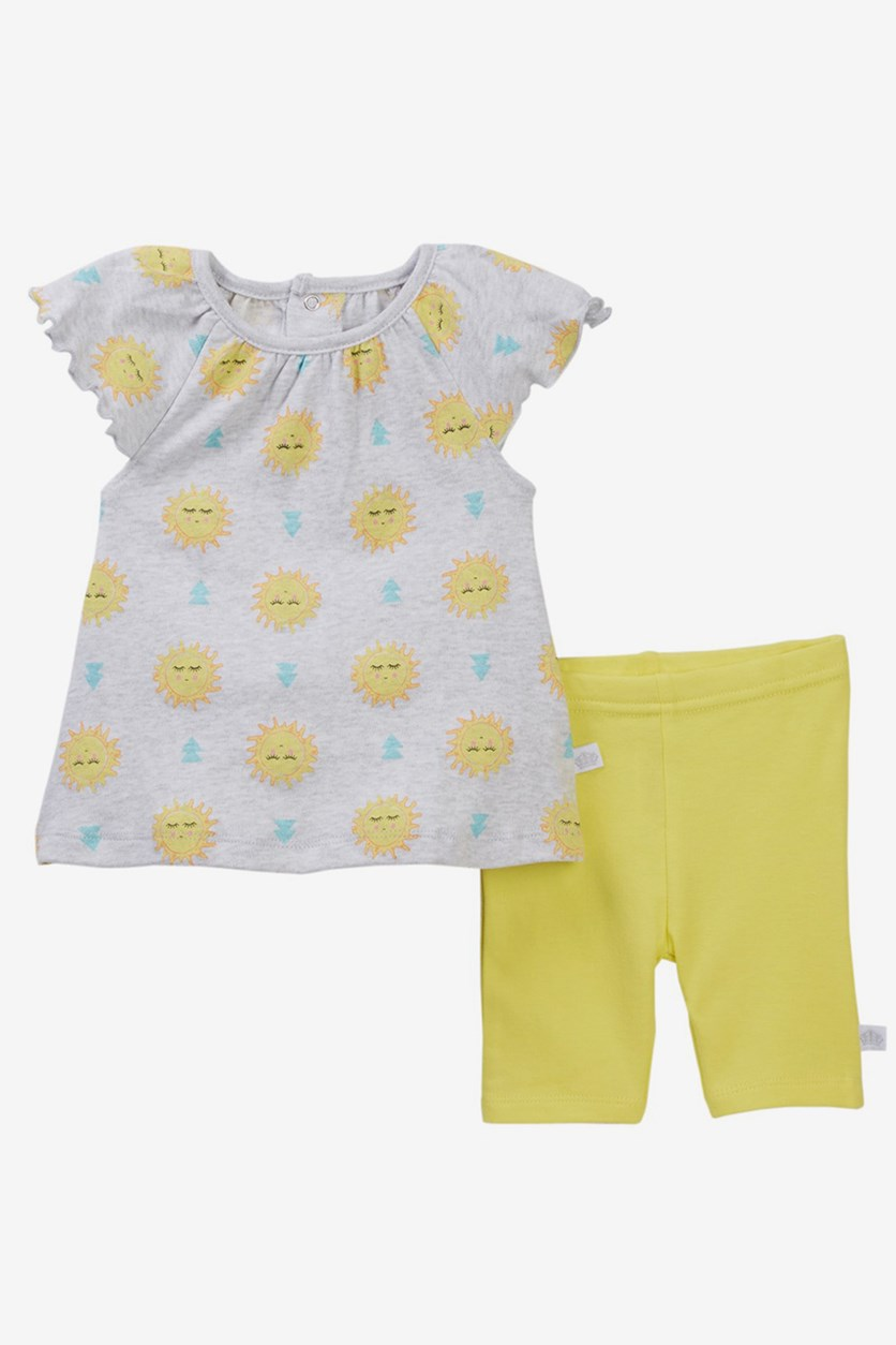 Toddler Sun Dress & Pants Set, Yellow