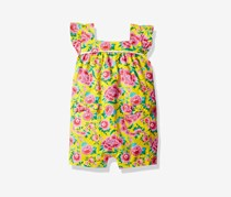 Rosie Pope Girls Baby Newborn Floral Print Bodysuit, Yellow Combo