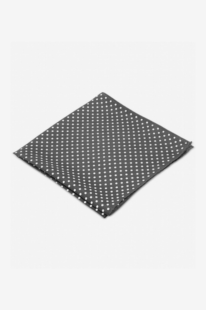 Style Dot Pocket Square, Black/White